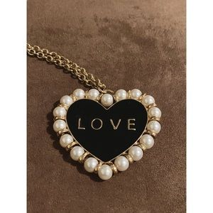 Love heart long necklace